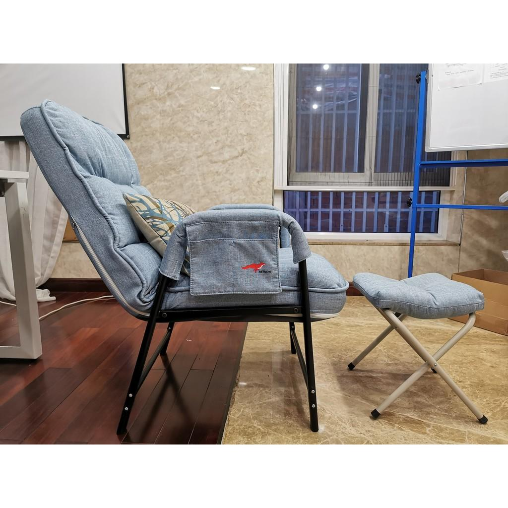 Ghế sofa lười kèm đôn Hahoo - Ghế lười salon tặng kèm ghế đôn