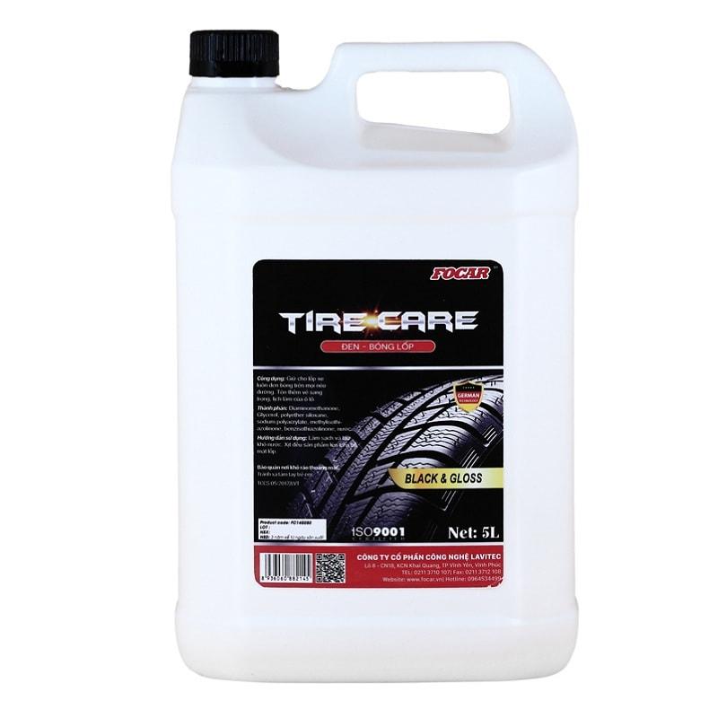 Dung dịch Đen & Bóng Lốp Focar Tire Care 5L