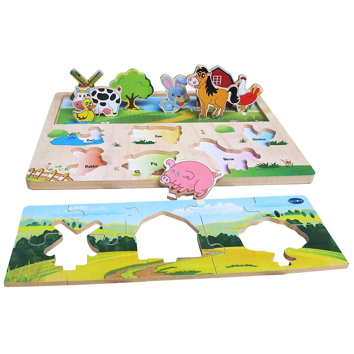 Xếp Hình Nông Trại   - Đồ chơi gỗ