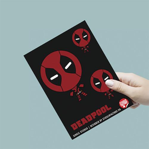 Single sticker hình dán siêu anh hùng - Deadpool