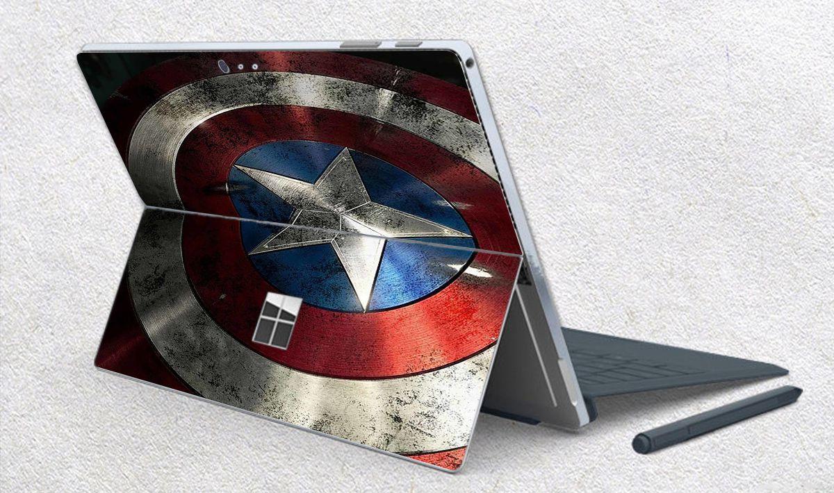 Skin dán hình Captain cho Surface Go, Pro 2, Pro 3, Pro 4, Pro 5, Pro 6, Pro 7, Pro X