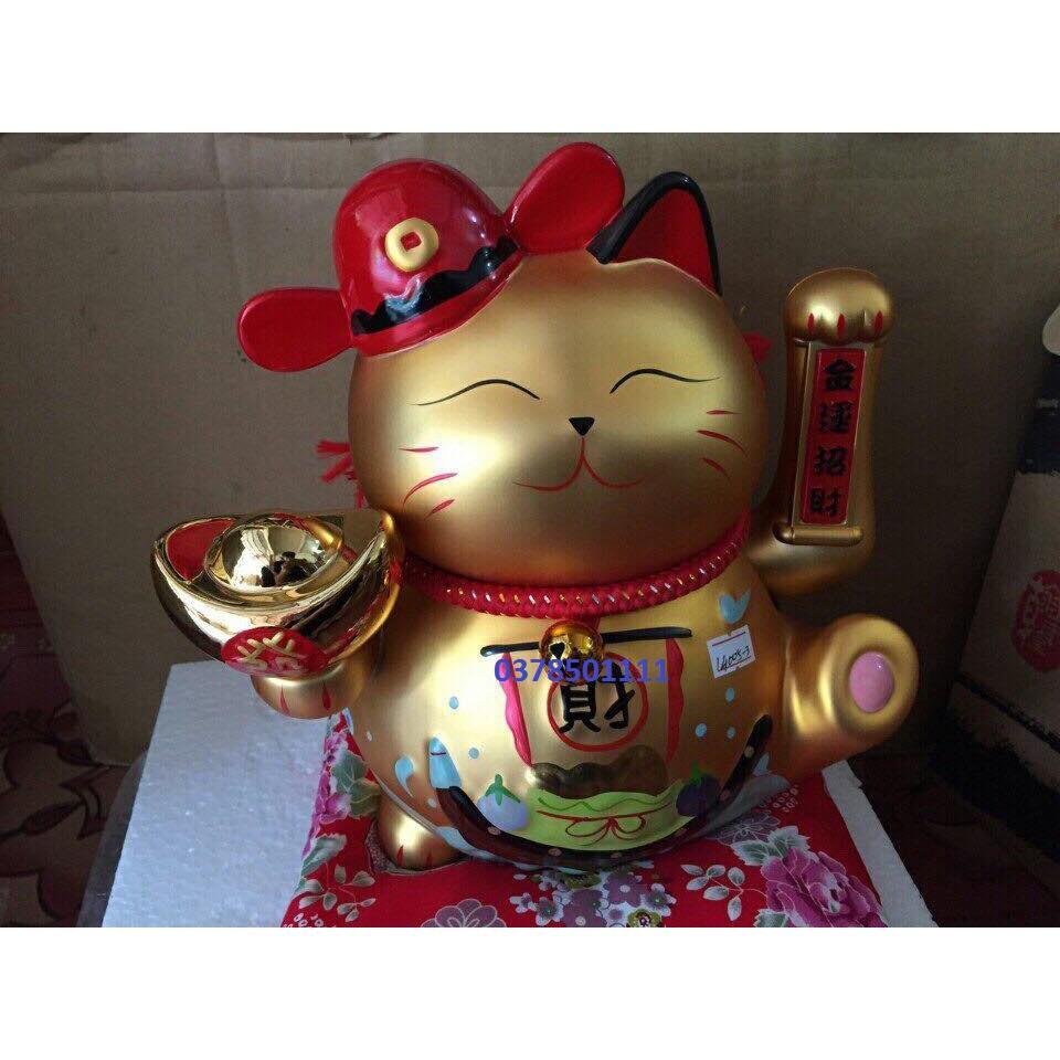 Mèo thần tài, tài lộc vẫy tay mạ vàng S4