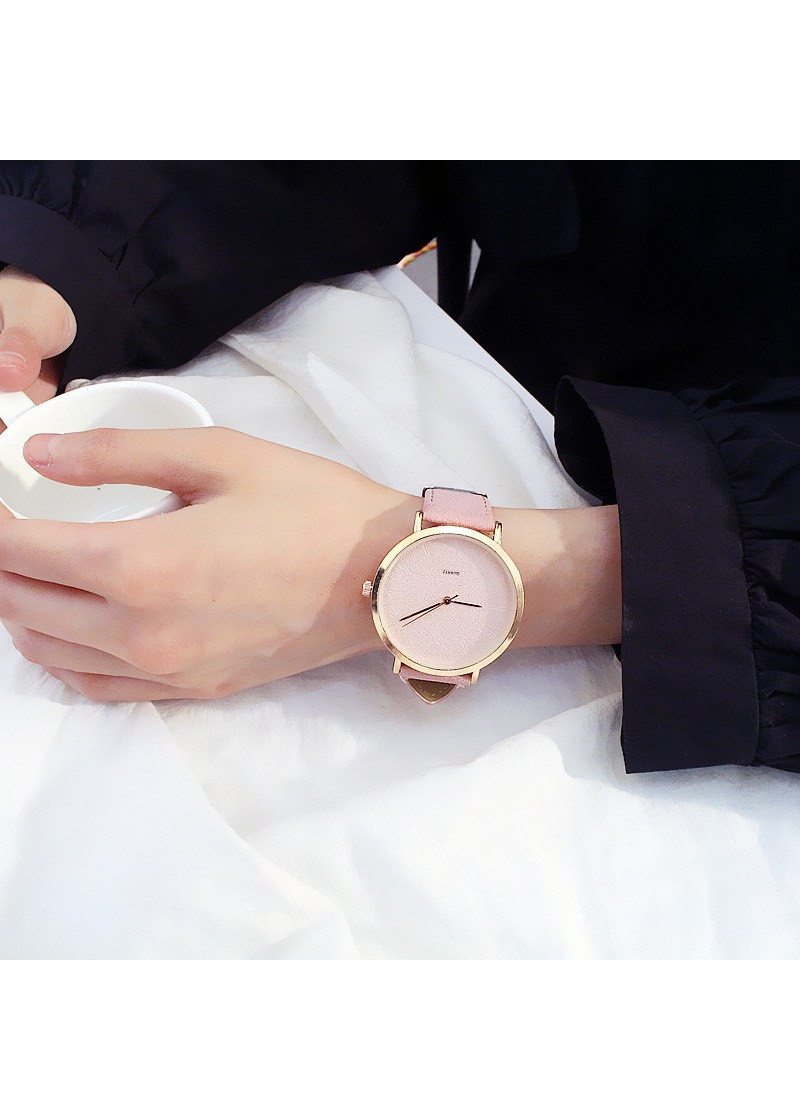 Đồng hồ thời trang nam nữ dây nhung phong cách Hàn Quốc ZO85