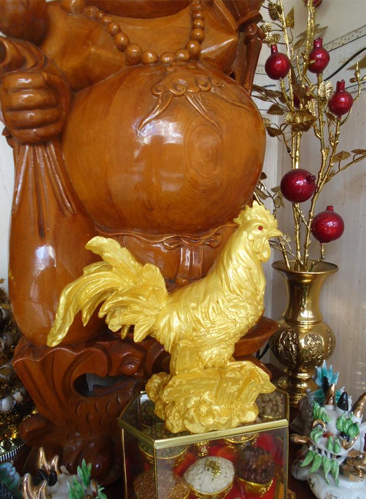 Tượng đá vàng gà cồ đại cát GDV17 - GDV17