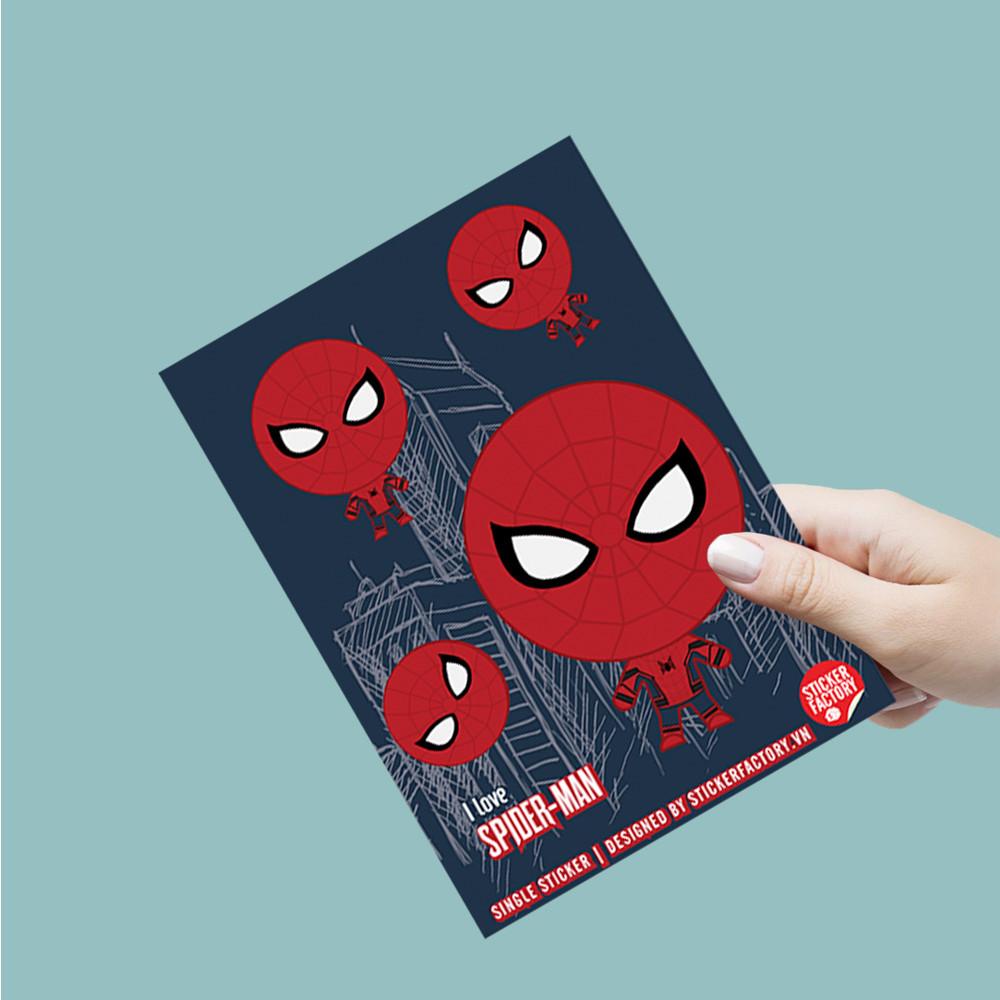 I love Spider Man - Single Sticker hình dán lẻ