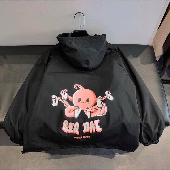 Áo khoác dù Chống Nắng cho nam nữ và cặp đôi In Hình Sea Bea, Jacket ulzzang 2 màu unisex