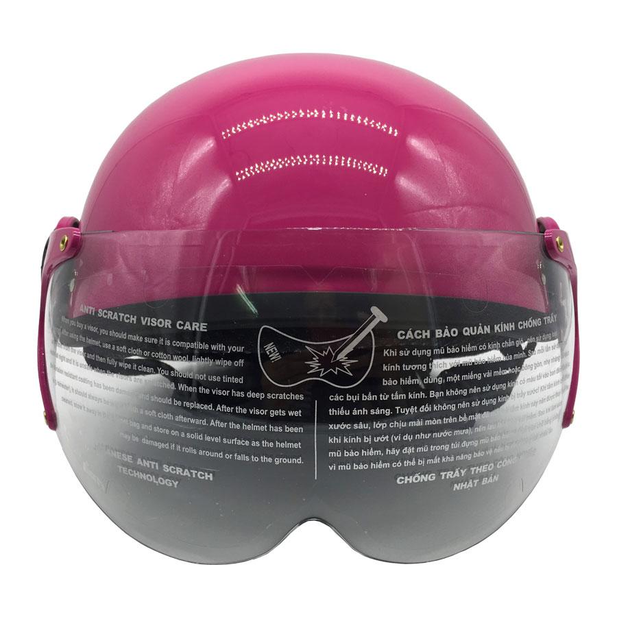 Mũ Bảo Hiểm Trẻ Em 1/2 Đầu Có Kính Chita CT27(K), Họa Tiết Công Chúa Dễ Thương - Hàng  Chính Hãng