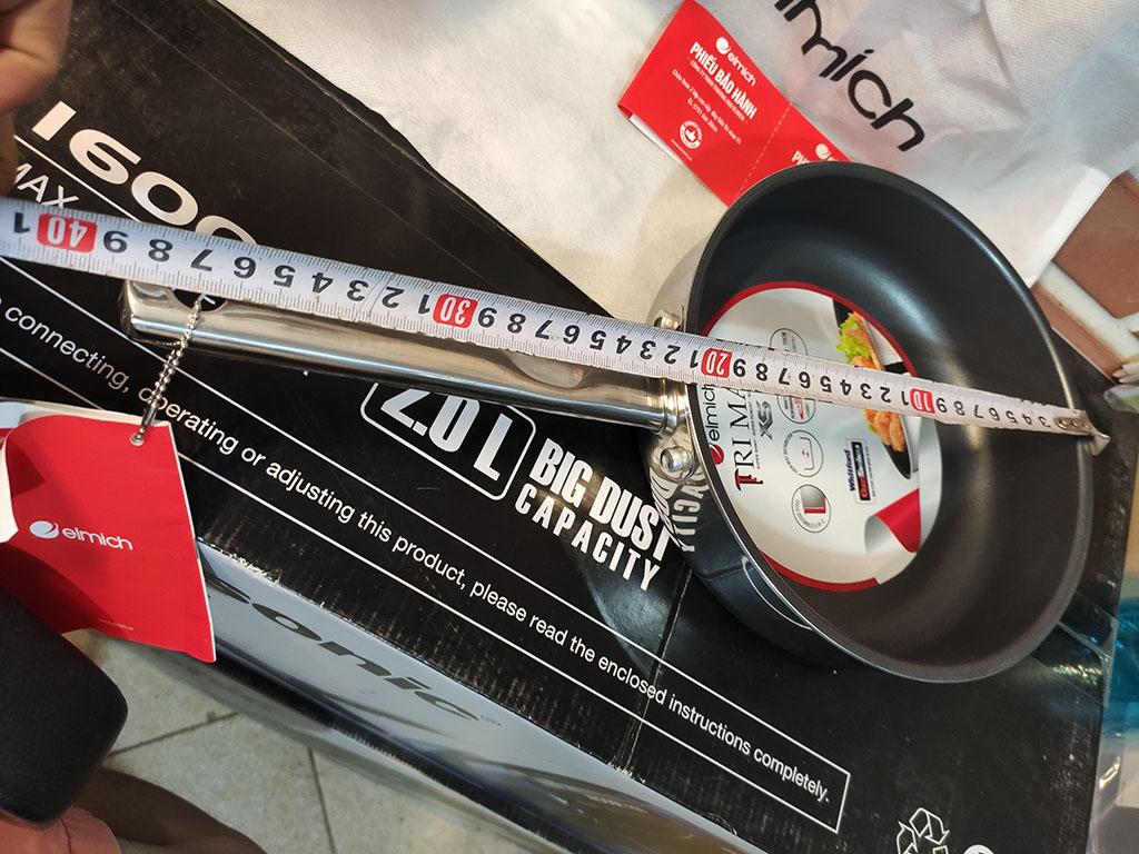 Chảo chống dính cao cấp Inox 304 liền khối Elmich Tri-Max XS EL-3751 đường kính 20cm chính hãng