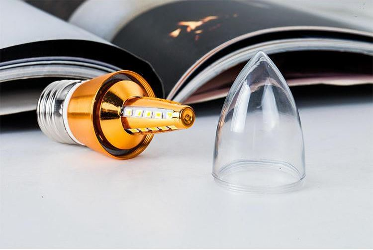 Bộ 10 bóng đèn nến Led đui E27 kiểu dáng độc đáo