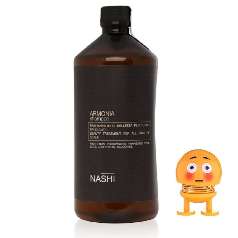 Dầu gội Nashi dành cho tóc dầu và gàu ngứa Armonia shampoo chính hãng Ý 1000ml  tặng lò xo mặt cười