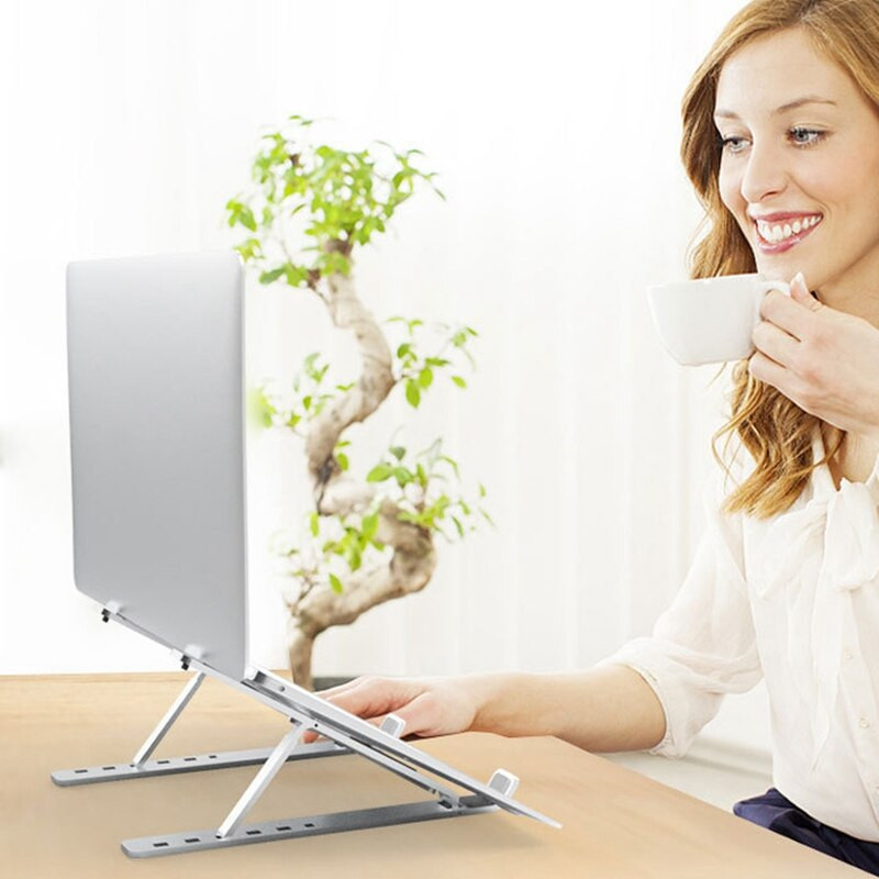 Giá Đỡ Laptop Hợp Kim Nhôm Cao Cấp Giúp Tản Nhiệt Có Thể Điều Chỉnh Góc Độ - Hàng chính hãng
