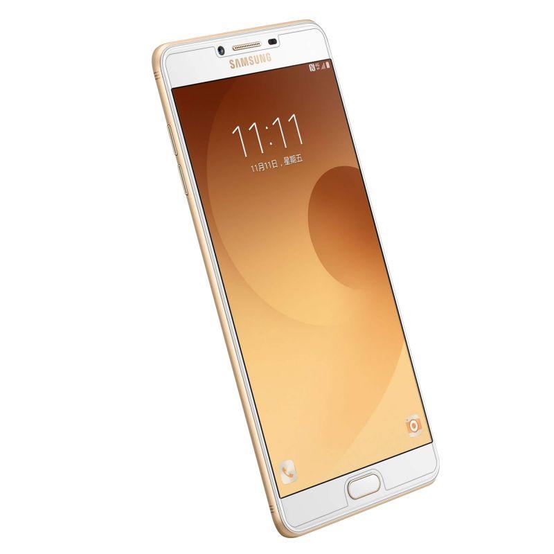 Miếng dán kính cường lực cho Samsung Galaxy C9 Pro độ cứng 9H, chống trầy, hạn chế bám vân tay - Hàng nhập khẩu