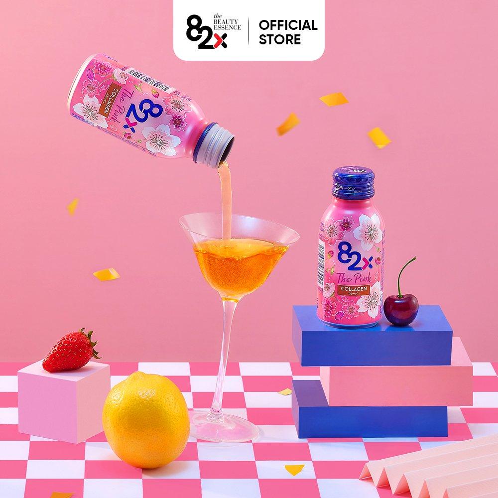 LỐC 10 CHAI) 82X The Pink Collagen 100ml Hàm Lượng 1000mg Collagen, Nước  Uống Đẹp Da Tràn Năng Lượng Đến Từ Nhật Bản   82X Official Store   Tiki