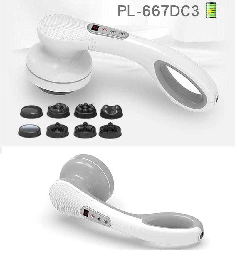 Máy massage cầm tay pin sạc 8 đầu PL-667DC3 - Điện tử