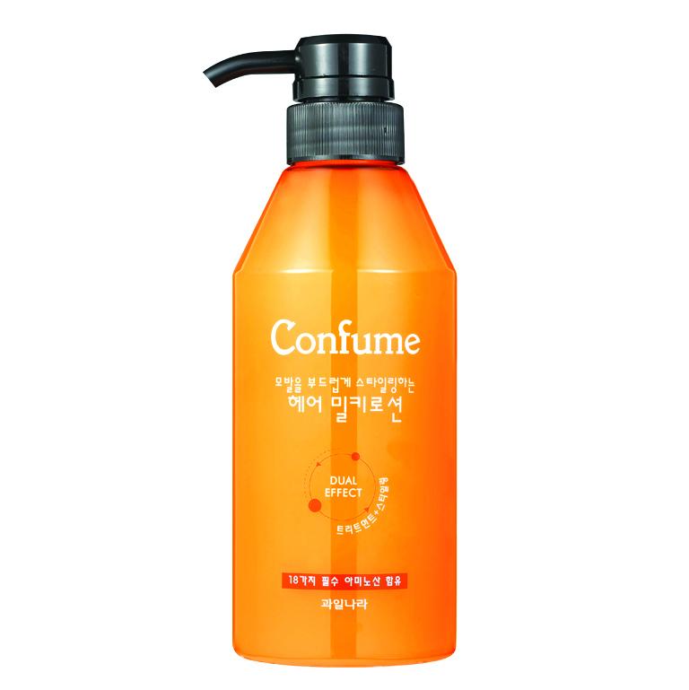 Dầu Xả khô dưỡng và tạo kiểu Tóc Confume Hair Lotion Hàn Quốc 400ml + Móc khóa