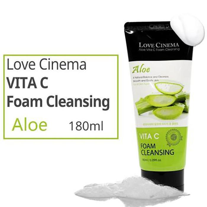 Sữa rửa mặt tinh chất dưa leo LOVE CINEMA CUCUMBER VITA C FOAM CLEANSING