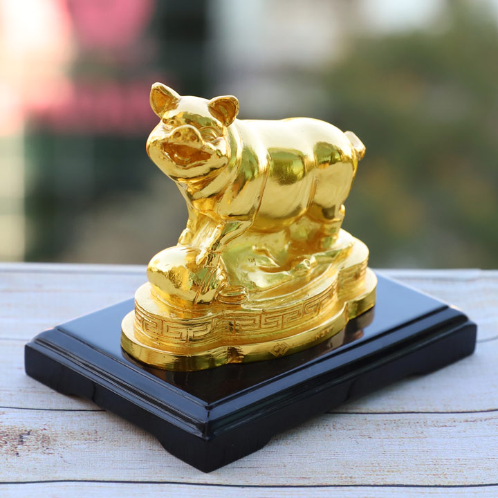 Tượng Heo phong thủy mạ vàng