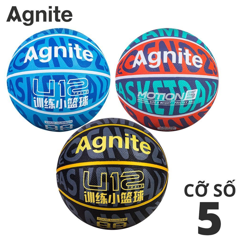 Quả bóng rổ số 5 họa tiết phá cách Agnite - Cao su chống bẩn, không mòn, bền, cho người chơi thể thao chuyên nghiệp - Hàng chính hãng - F1168