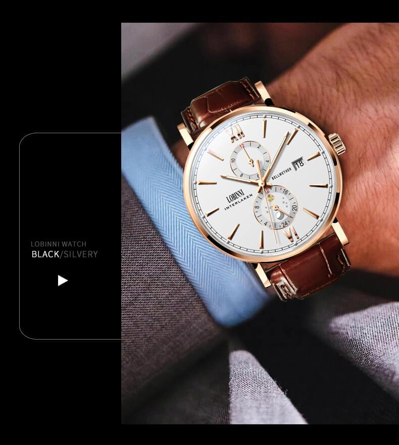 Đồng hồ nam chính hãng LOBINNI L1022-1 (Phiên Bản Hot Nhất Hè 2020)