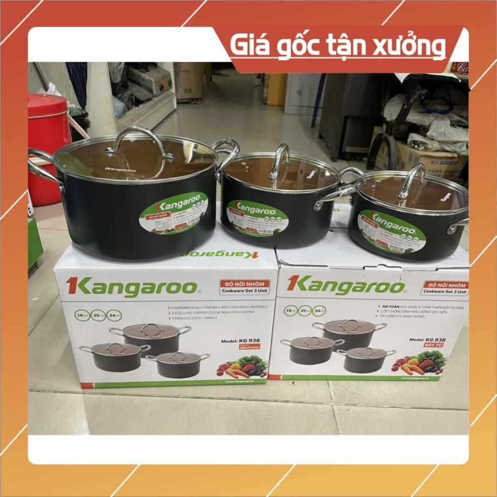 Bộ nồi hợp kim nhôm đáy từ Kangaroo KG938 hàng chính hãng