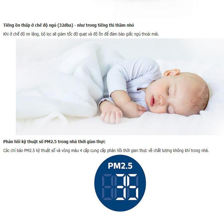 Máy lọc không khí trong nhà cao cấp thương hiệu Philips AC2886 Công suất 56W Cảm biến chất lượng không khí 4 màu diện tích 24㎡ -41㎡ - Hàng nhập khẩu
