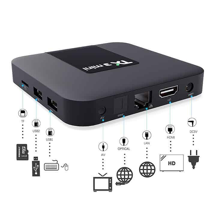 TX3 mini mới có bộ điều khiển giọng nói tiếng việt hỗ trợ bluetooth 2G Ram 16G Rom Tìm kiếm giọng nói cử chỉ cài sẵn chương trình tivi và xem phim HD miễn phí vĩnh viễn - Hàng nhập khẩu