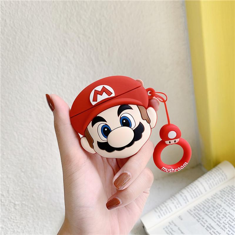 Bao Case Cho Airpods 1/ Airpods 2 / Airpods Pro Hình Mario