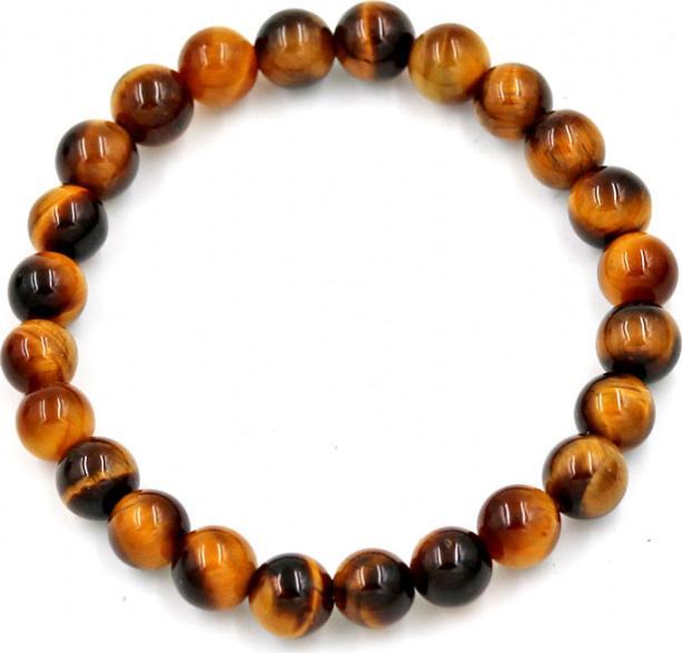 Vòng đeo tay chuỗi hạt đá mắt hổ vàng đen - Chuỗi đeo tay đá phong thủy, đem lại bình an, may mắn - 6 ly 24 hạt - Không kèm hộp
