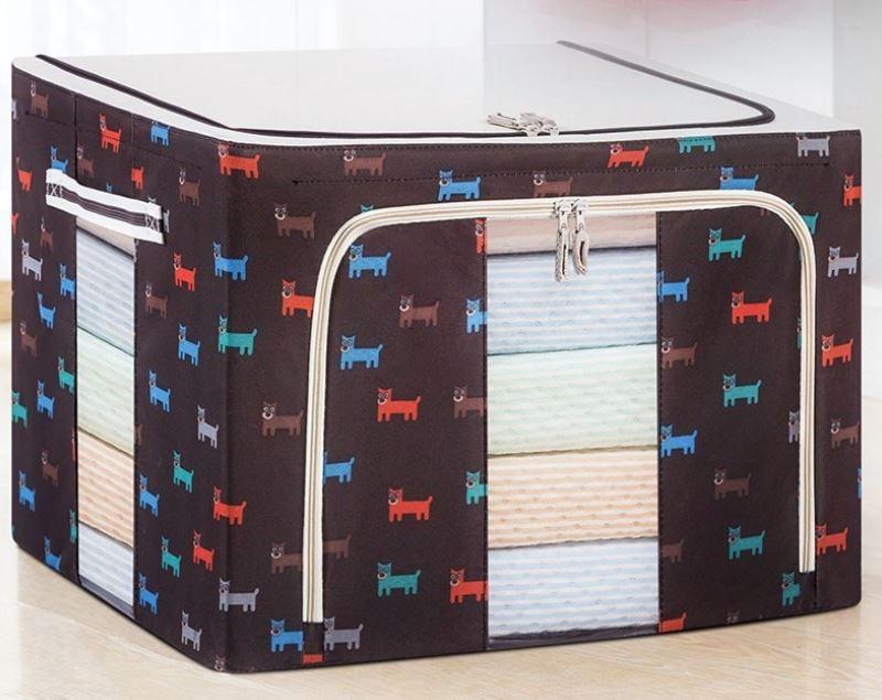 Bộ 2 Túi Đựng Chăn Màn Có Chọn Màu – Combo 2 Túi Vải Quần Áo Khung Sắt Gấp Gọn Cao Cấp Amalife