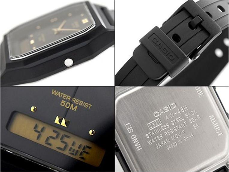Đồng hồ unisex dây nhựa Casio AW-48HE-1AVDF