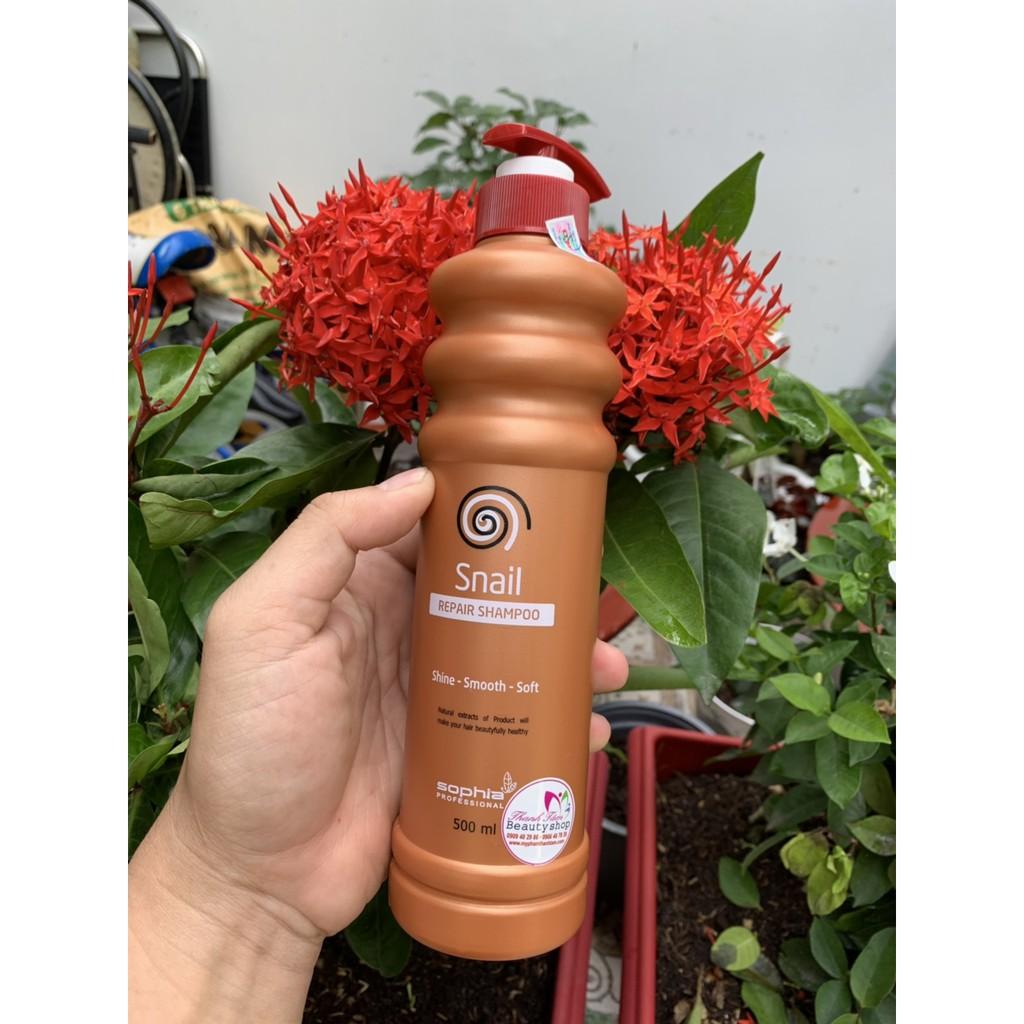 Dầu Xả Siêu Phục Hồi & Lưu Hương Sophia Profesional Snail Repair Conditioner Hàn Quốc 500ml tặng kèm móc khoá