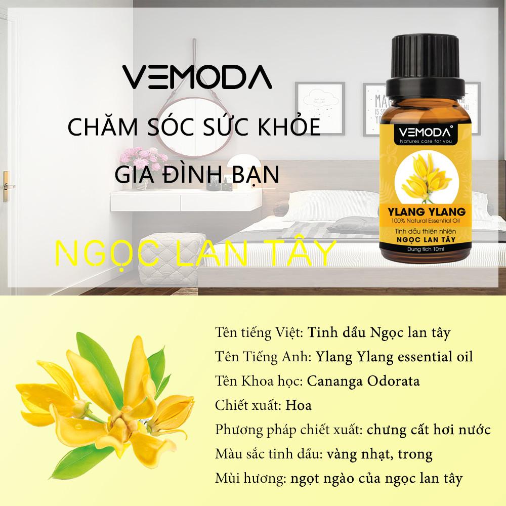 Tinh dầu Ngọc lan tây cao cấp Vemoda 50ML giúp thơm phòng, thư giãn, chống trầm cảm, sát trùng, dưỡng tóc