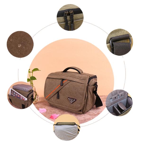Túi máy ảnh vải gai Daishu - hàng nhập khẩu