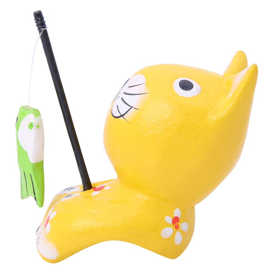 Tượng Mèo Ngồi Câu Cá Đan Như (Size S)
