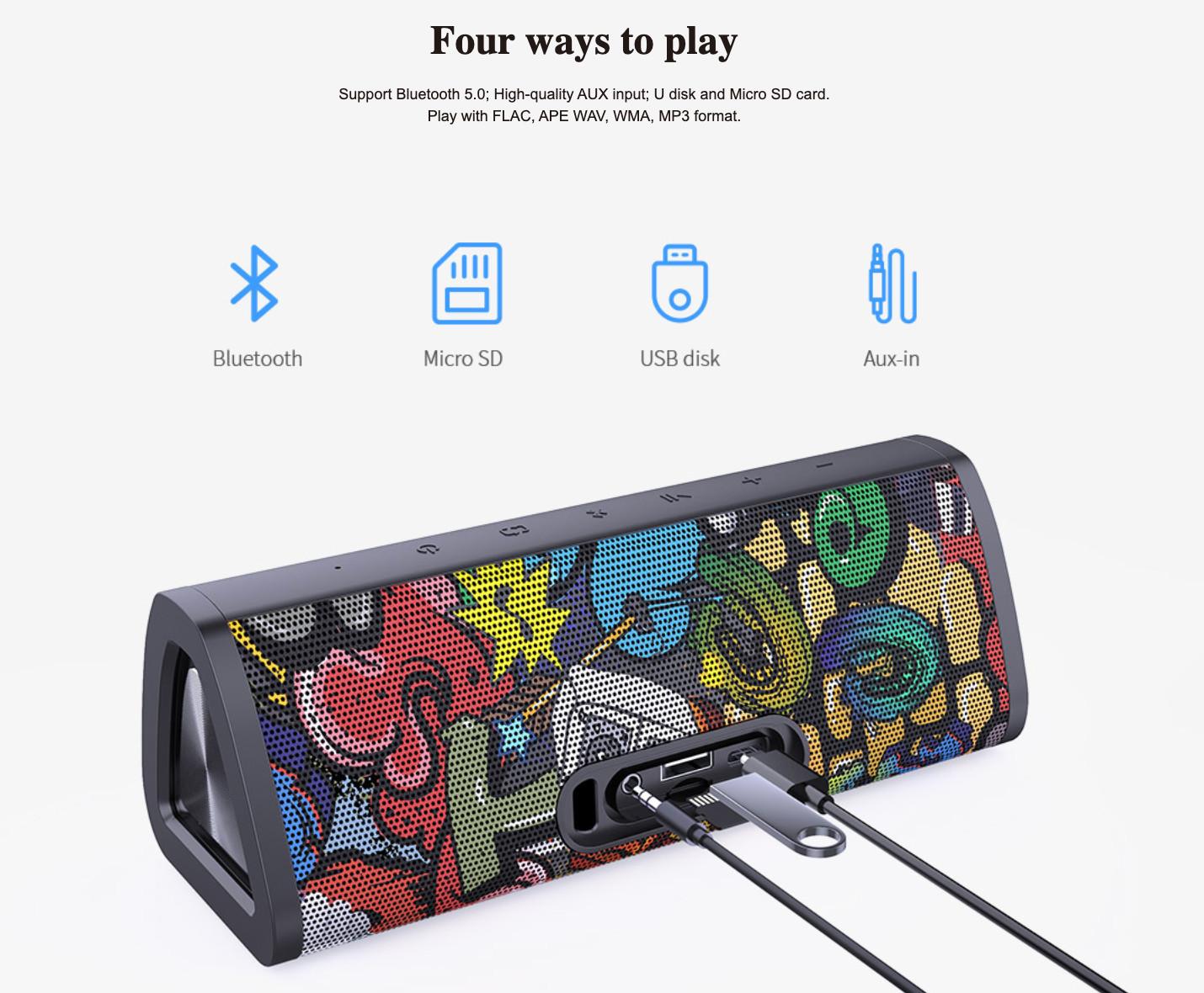 Loa Bluetooth Mifa A10+ Super Bass ( Phiên Bản Nâng Cấp MIFA A10) - Hàng Chính Hãng