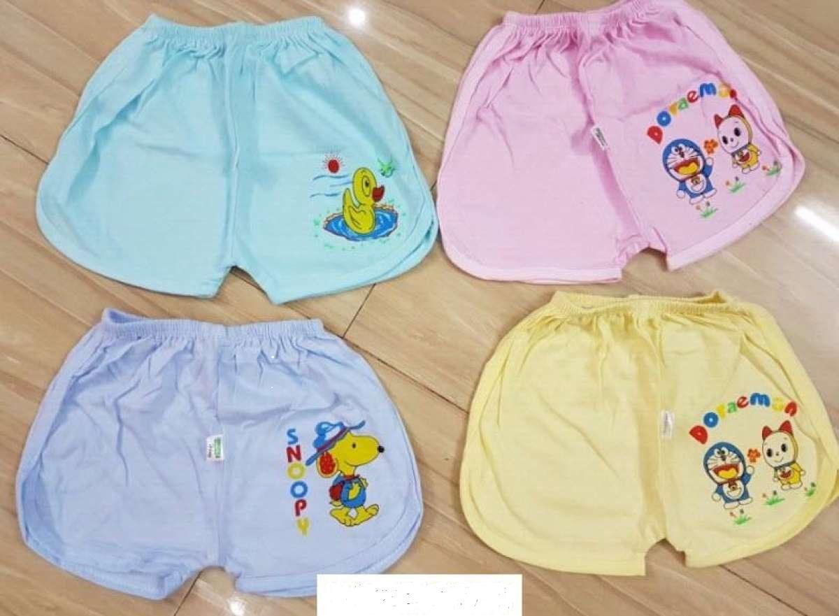 Set 5 quần ngắn sơ sinh màu thể thao in cho bé trai/bé gái 2-12kg