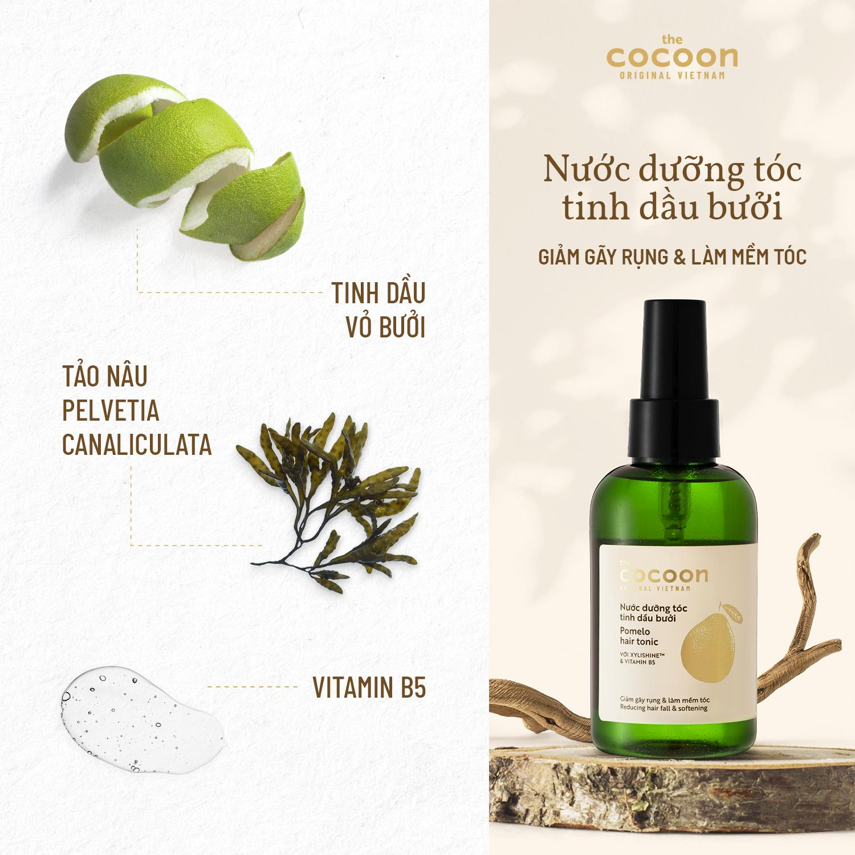 Combo tóc dài bóng mượt Cocoon: - Serum, dầu dưỡng tóc Hãng THE COCOON    MyPhamTONA.com