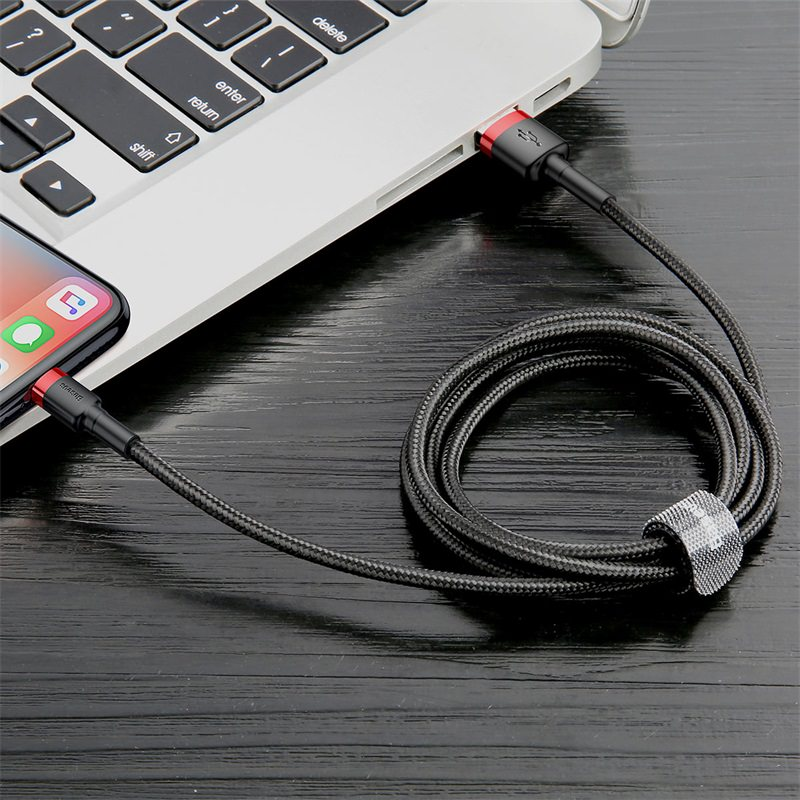 Cáp sạc iPhone tự ngắt Baseus C-shaped Light Intelligent power-off Cable CALCD - Hàng chính hãng
