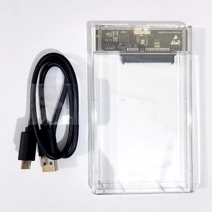 Box ổ cứng 2.5 inch trong suốt USB 3.0 C25B