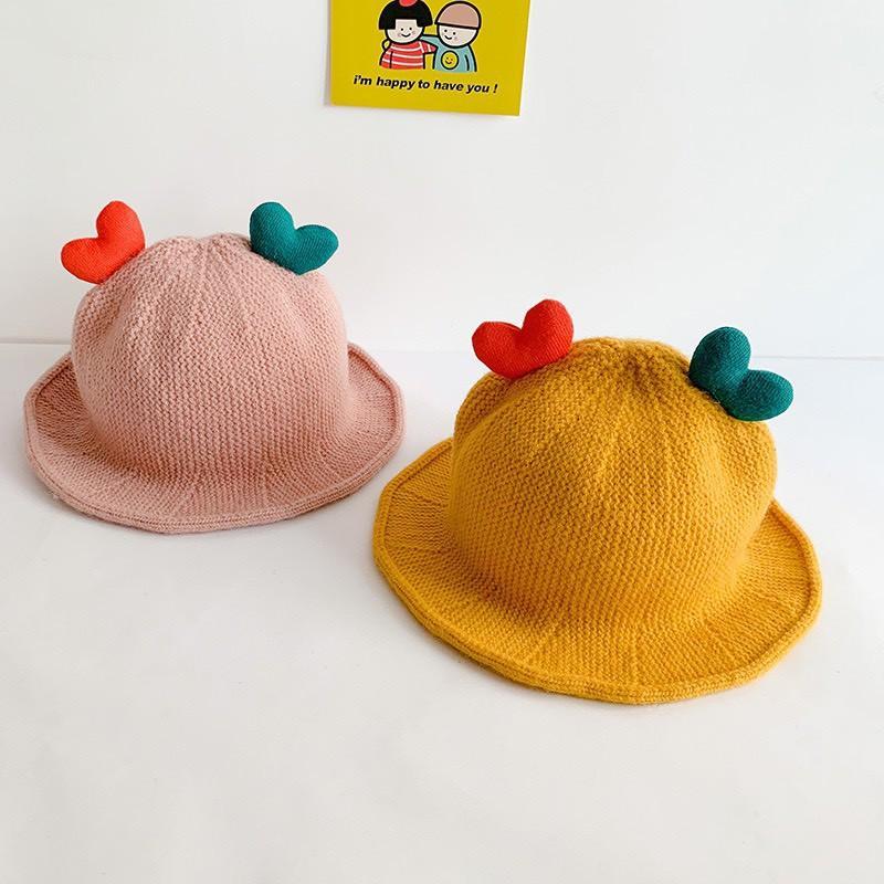 Mũ len MẦM TRÁI TIM cho bé trai/bé gái 1-3 tuổi