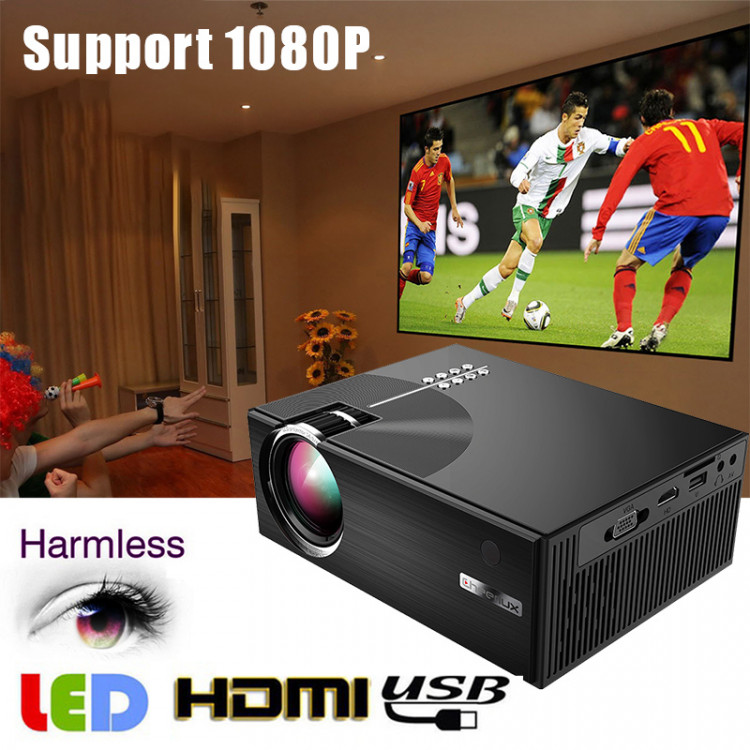 Portable LCD Projector HD 3D USB Screen Mirroring Home Theater Multimedia