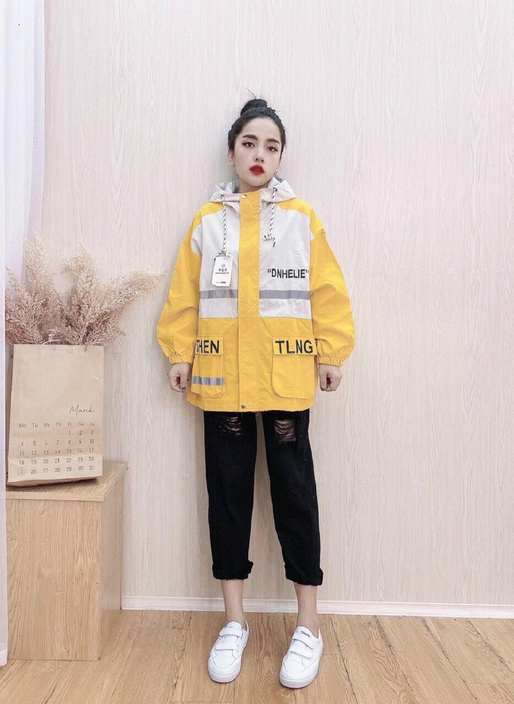Áo khoác nữ kaki Nhật Julido, mẫu mới thu đông chống nắng tốt BONMAU9999