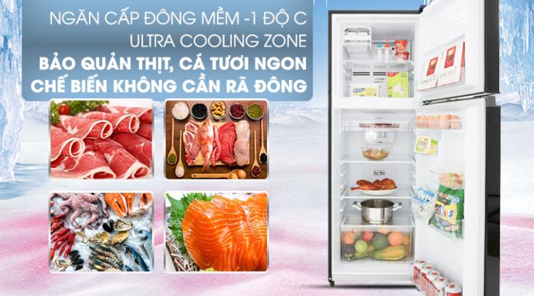 Tiết kiệm thời gian hơn với ngăn cấp đông mềm - Tủ lạnh Toshiba Inverter 233 lít GR-A28VM(UKG)