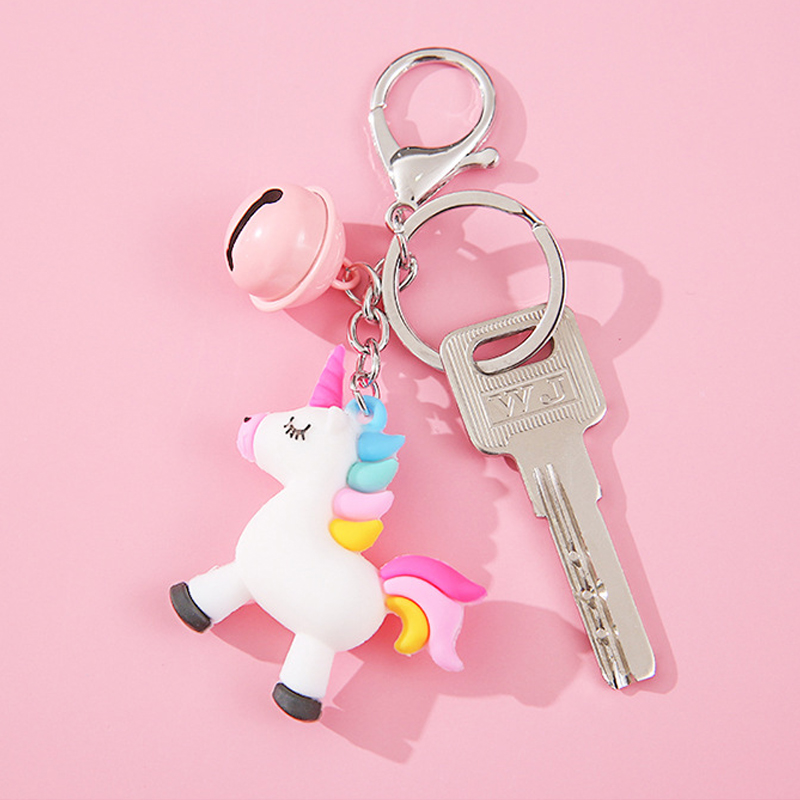 Móc Chìa Khóa, Balo Hình Chú Ngựa Pony, Unicorn, Ngựa 1 Sừng Hàn Quốc Dễ Thương- Kèm Chuông