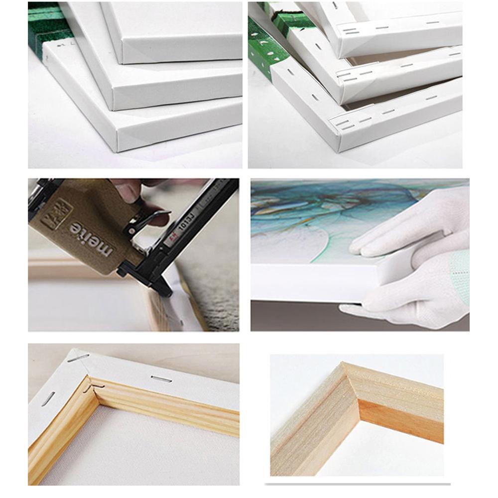 Tranh Bộ Slogan văn phòng khổ lớn , Chất Liệu Vải Canvas căng khung gỗ có sẵn đinh móc treo tranh