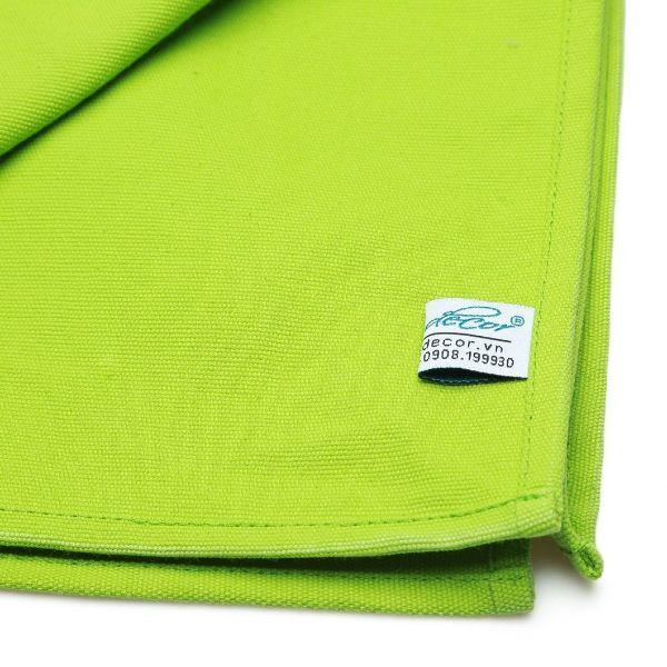 Combo 5 Cái Khăn Ăn Green Canvas Napkin 45x45cm (Xanh Lá)