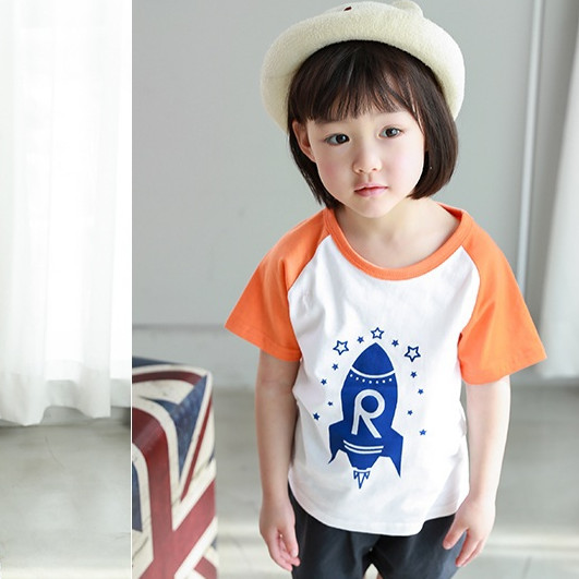 Bộ sọt cộc tay quần áo bé trai bé gái - Star country short sleeve set