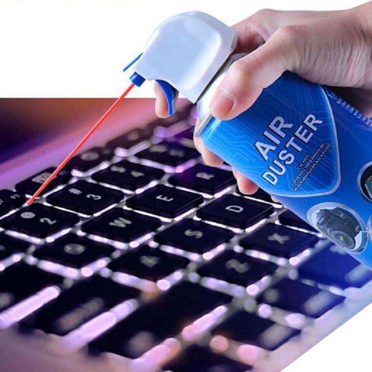 Bình xịt khí nén vệ sinh bàn phím Macbook