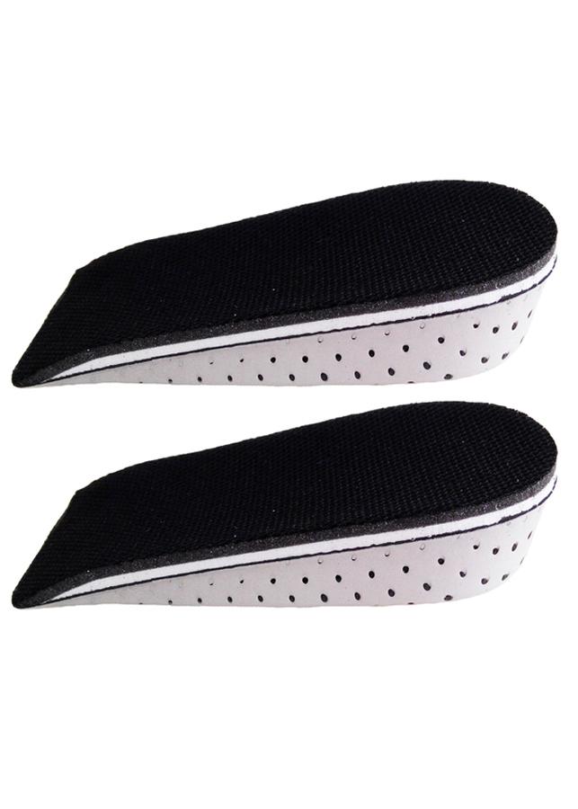 Lót giày tăng chiều cao EVA nửa bàn - Màu Xám (Cao 3 cm)