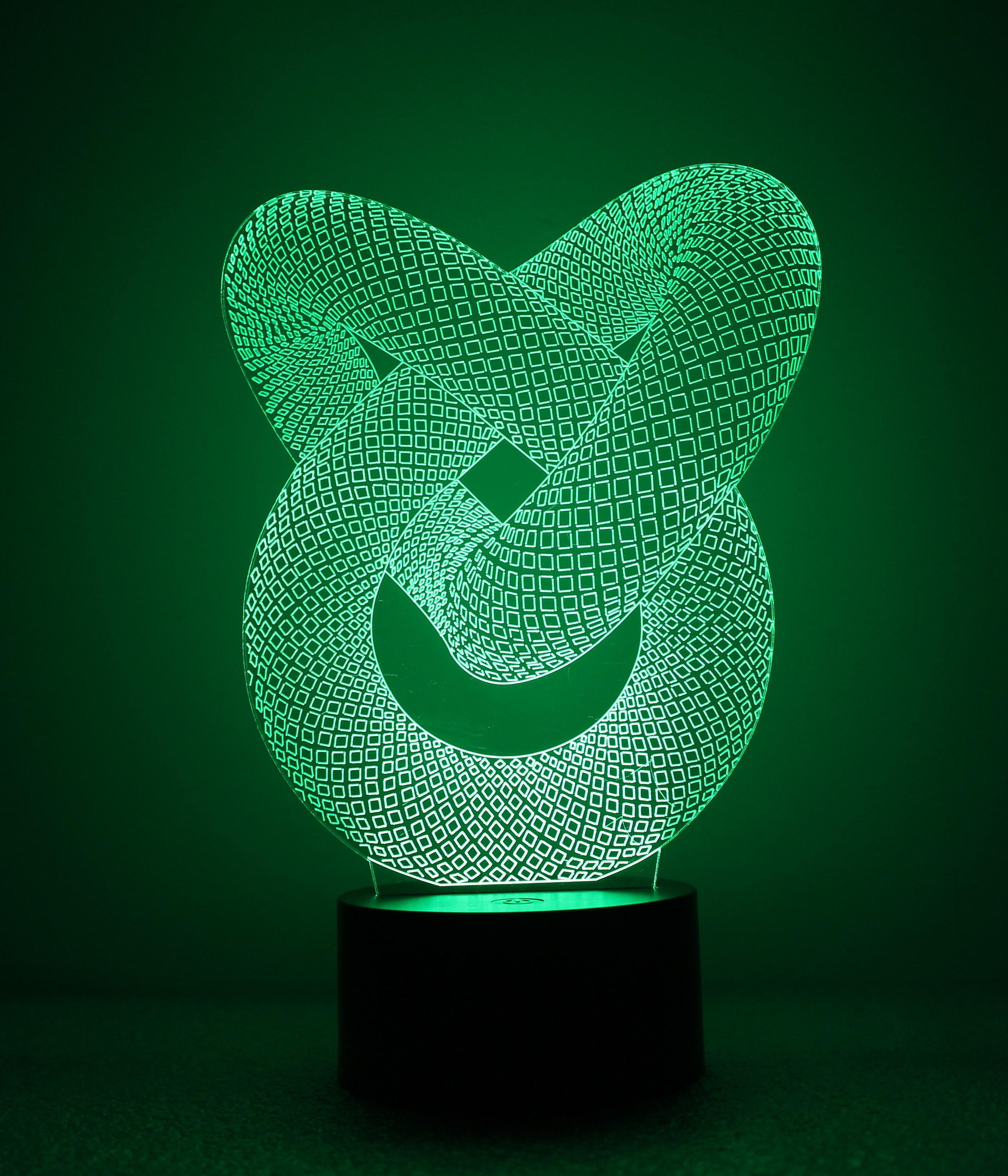 Đèn ngủ 3D - Vòng tròn lồng nhau công tắc cảm ứng